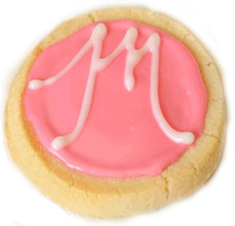 Glazed Shortbread Cookie